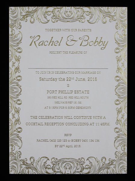 wedding invitations With wedding invitations a5 size
