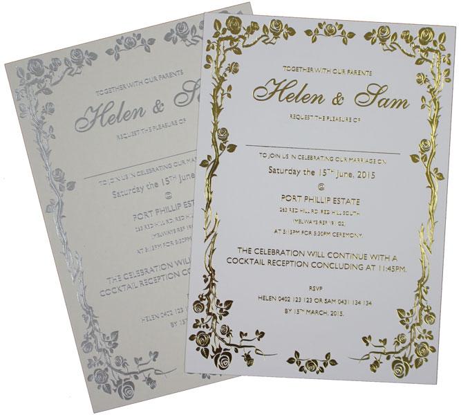 A5 Size (210mm X 148mm) Wedding Invitations