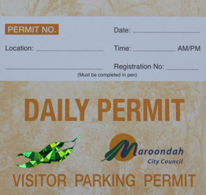 hologram parking permit